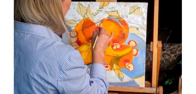 Живопись маслом. Мастер класс по живописи. Рисуем натюрморт.