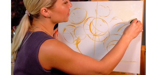 Как нарисовать пионы? Мастер класс по живописи пионы маслом.